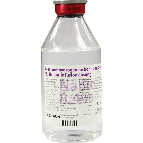 B. BRAUN (ASKINA) Natrium Hydrogencarbonat Natriumhydrogencarbonat 8,4% B.Braun Glas, 250 ml
