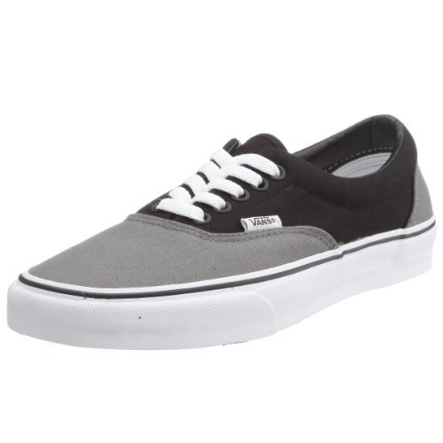 Vans Unisex-Adult Era Canvas Pewter/Black Trainer VEW4PBQ 10 UK