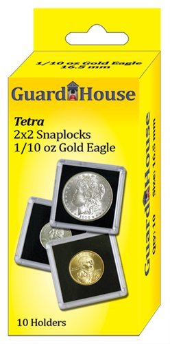 Guardhouse - 2x2 1/10 Oz AGE Tetra Snaplock, Coin Holders-10 ea.