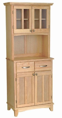 Cheap Buffet Hutch with Metal Handles in Natural Finish (VF_HY-5001-0011-12)