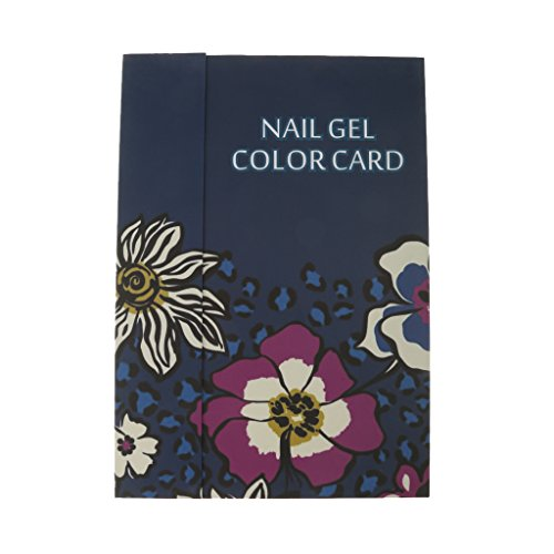 216/180/120 Colors Nail Gel Polish Display Book Chart Nail Art Salon UV - Dark Blue, M (180 Colors) (Nail Display Chart compare prices)