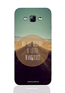 Sowing Happiness printed Back Cover for Samsung A8