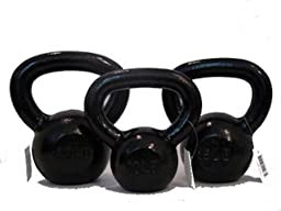 10lb 15lb 20Lb Cast Iron Kettlebell Starter Set - Combo Special - Free 2-3 Day Shipping