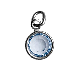 Sterling Silver December Birthstone Charm - Hangs on Loving Family Mother