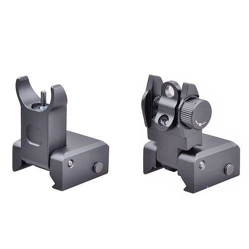 Best Price! NEW Tactical Flip Up Iron Sight Rear/Front Sight Mount