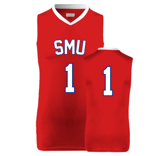 SMU Replica Red Adult Basketball Jersey '#1'