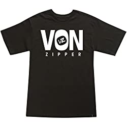 VonZipper Front Line Men's Short-Sleeve Sports Wear T-Shirt/Tee - Black