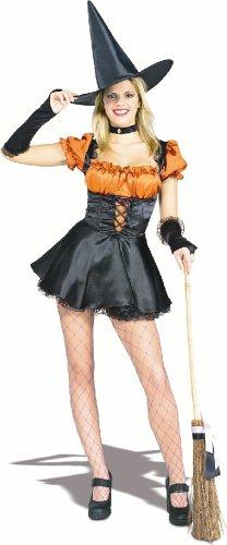 アダルト オレンジセクシーウィッチ コスチューム Adult Orange Sexy Witch Costume 802106