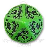 1 (One) Single D10 - Q-Workshop: Carved DRAGON D10 Dice / Die (Green & Black)