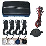 Silver Rear Car Parking Reversing with 4 Sensor Buzzer Mini box Kit in car technology