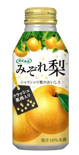 果実体感 みぞれ梨 ボトル缶 375g×24本