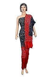 Women's Pure Taffeta Silk Unstitched Salwar Suit Dress Material (Dress_1050_FreeSize_Multicolor)