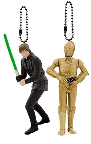 "Disney Star Wars Return of the Jedi ""Luke Skywalker in Jedi Costume & C-3PO"" 2pc. Keychain Set"