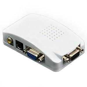 Mygica VGA, Laptop, Mac, Computer to TV Presentation Converter, Converts VGA to Video, RCA Composite, S-Video and VGA