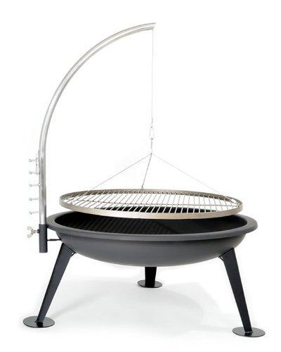 Feuerschale edelstahl bbq 80cm xxl deluxe schwenk - Grille barbecue 80 cm ...