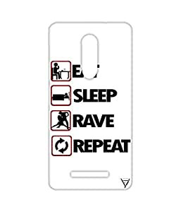 Vogueshell Eat, Sleep, Rave, Repeat Printed Symmetry PRO Series Hard Back Case for Xiaomi Redmi Note 3