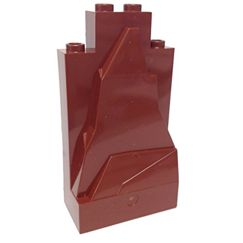 Lego Parts: Rock Panel 2 x 4 x 6 (Reddish Brown) - 1