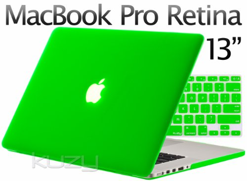>>  Kuzy - 2in1 Retina 13-Inch GREEN Rubberized Hard Case and Keyboard Cover for Apple MacBook Pro 13.3