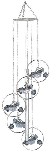 Wind Chime 5-Ring Charm Motorcycle Musical Hanging Garden Decoration