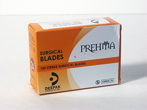 Prehma: No#24: Premium Quality Sterile Surgical Blades 100/box
