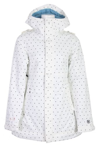 Burton TWC Weekend Snowboard Jacket Wht Just Off A Dot Womens Sz 5