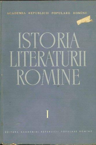 Istoria Literaturii Romine I: Folclorul. Literatura Romina in Perioda Feudala (1400-1780) [Rumanian Literary History: Folklore in the Feudal Period), Academia Republicii Populare Romine