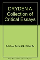 DRYDEN A Collection of Critical Essays,…