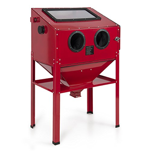 ARKSEN-60-Gallons-Vertical-Sand-Blaster-Cabinet-Interior-Light-Red