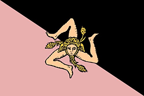 Flagge Sicily pink and black |