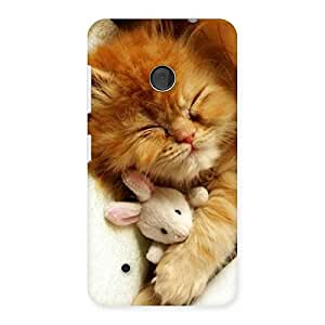 Special Sleeping Cat with Bunny Multicolor Back Case Cover for Lumia 530