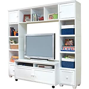 B Cubed Entertainment Center Finish White Home Entertainment Centers