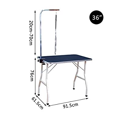 Pawhut Dog Cat Pet Grooming Table Portable Mobile Foldable Adjustable With Arm Noose Stainless Steel Frame and Legs New
