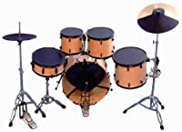 Practice Silencer Pads For 5 Piece Rock Drum Kit 7 Pieces by session pro