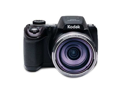 Kodak AZ521, 16MP Camera with 52x Optical Zoom, 3″ LCD Screen, 1080p Video Recording – Black