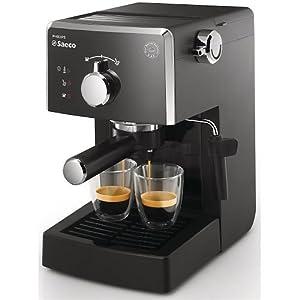 Saeco - Cafetera Espresso Focus Saeco Hd832301, Manual Y Monodosis, 15Bares, Deposito Agua 1,2L, Tubo De Vapor Plastico. Negro.