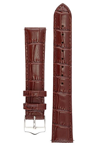 signature-tropico-in-dark-brown-16-mm-watch-band-replacement-watch-strap-genuine-leather-silver-buck