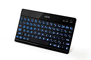 Azio Large Print Backlit Bluetooth Keyboard for iPad/Android Tablets