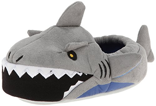 Stride Rite Boy's Light-Up Mouth Shark Slipper, Grey, 13/1 (Shark Boy And compare prices)