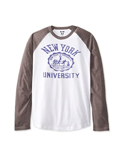 Tailgate Clothing Company Men's NYU Logo Long Sleeve Raglan T-Shirt