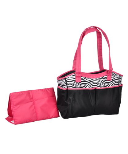 Baby Essential Zebra Print Diaper Bag - 1
