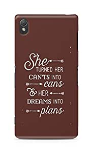 AMEZ cants into cans dreams into plans Back Cover For Sony Xperia Z3