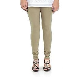 Vami Cotton Churidaar Leggings for Women in Natural Tan