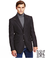 Best of British Pure Wool 2 Button Twill Jacket
