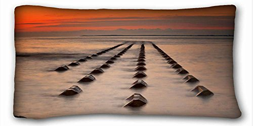"""Generic Personalized ( Landscapes sea sunset landscape ) Pillowcase Standard Size 20""""X36"""" Design Pillow Case Cover suitable for Full-bed PC-Green-21612"""
