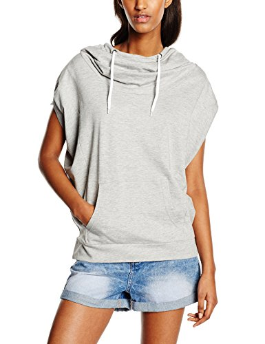 Urban Classics Ladies Sleeveless Terry High Neck Hoody, Felpa Donna, Grau (Grey 111), Large