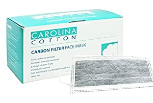 Carolina Cotton Carbon Filter Face Mask - 50ct/box