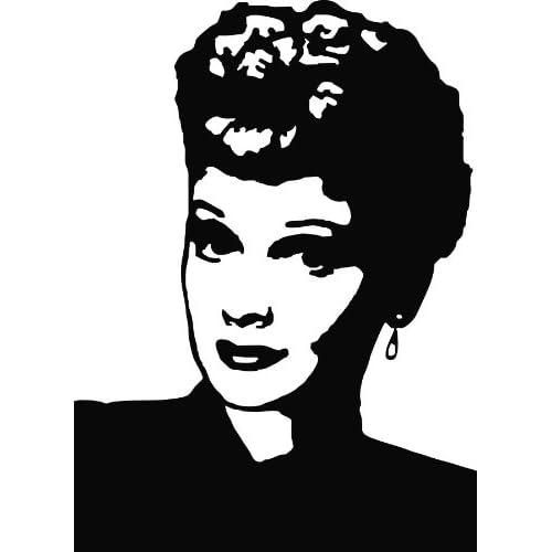 Lucille Ball Die Cut Vinyl Decal Sticker 6 Black