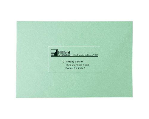 Faciles à décoller-Étiquettes d'expédition pour impression Laser, 2 x 4 Transparent/Lot de 100