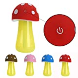 Gillberry Home Aroma LED Humidifier Mushroom Air Diffuser Purifier Atomizer New (Red)