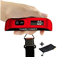 Travel Inspira Digital Hanging Postal Luggage Scale with Carry Pouc